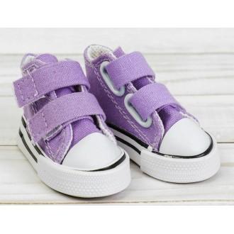 Кеды для кукол на липучках, длина стопы 7,5 см, цвет фиолетовый