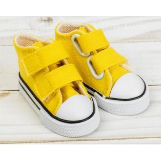 Кеды для кукол на липучках, длина стопы 7,5 см, цвет желтый