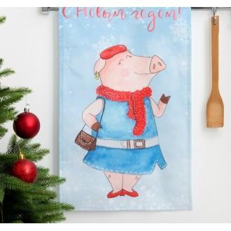 """Полотенце кухонное """"Этель"""" """"С Новым годом, бабуля!"""" 34х58 см, 100% хл, репс"""