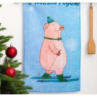 Полотенце кухонное «Этель» С Новым годом, папуля! 34×58 ± 3 см, 100% хл, репс