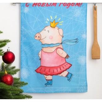 Полотенце кухонное «Этель» С Новым годом, мамуля! (вид2) 34×58 ± 3 см, 100% хл, репс