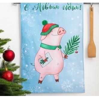 Полотенце кухонное «Этель» С Новым годом, папуля! (вид2) 34×58 ± 3 см, 100% хл, репс