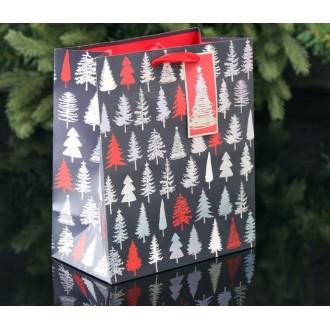 Пакет подарочный «Новогодний лес - место чудес!», премиум, 20 х 24 х 10.2 см