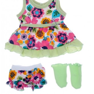 Одежда для кукол 38-43 см: платье, трусики и носочки