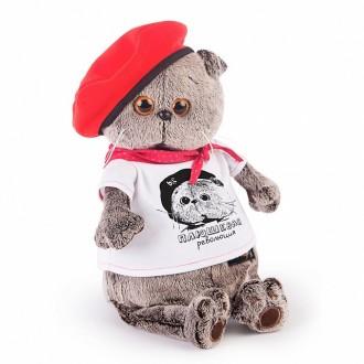 """Кот Басик в футболке с принтом """"Плюшевая революция"""""""