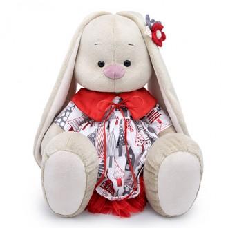 Зайка Ми Большой в платье с красным воротничком (40 см)