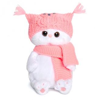 Кошечка Ли-Ли BABY в шапке-сова и шарфе (20 см)