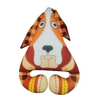 Игрушка-антистресс Собака Ушастик коричневая (30 см)