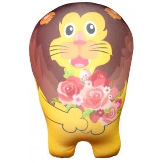 Игрушка-антистресс Лев с цветами (43 см)