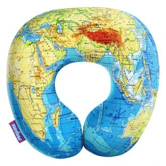 """Подголовник-антистресс  """"Карта мира"""""""