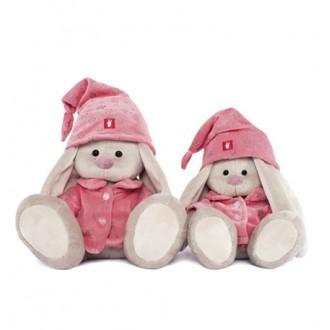 """Мягкая игрушка """"Зайка Ми"""" в розовой пижаме (18 см)"""