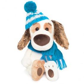 Бартоломей BABY в шапочке и шарфе (20 см)