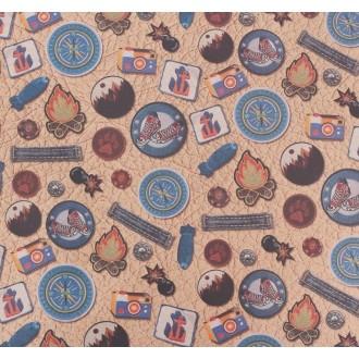 Бумага упаковочная крафтовая «Мужские нашивки», 50 × 70 см