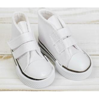 Кеды для игрушек на липучках, длина стопы 7,5 см, цвет белый
