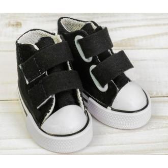 Кеды для игрушек на липучках, длина стопы 7,5 см, цвет черный