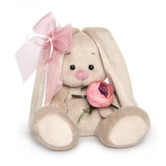 Зайка Ми с винтажной розой (малыш) 15 см