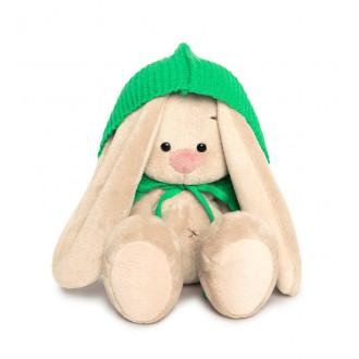 Зайка Ми в зеленом пончо (малыш) 15 см