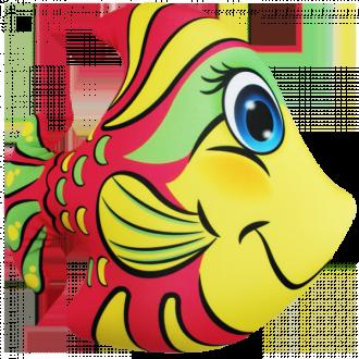 """Игрушка-антистресс """"Рыбка розовая"""" (33*34 см)"""