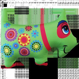 """Игрушка-антистресс """"Собака зеленая"""" (35*25 см)"""