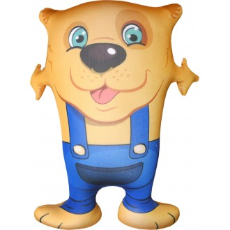Игрушка-антистресс Собака Обнимака желтый (45 см)