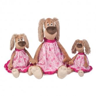 Собачка Зиночка в платье (35 см)