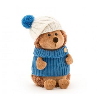 Ежик Колюнчик в шапке с голубым помпоном (в коробке) 15 см