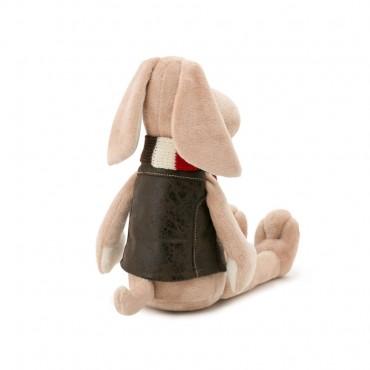 Пес Бруно в полосатом шарфе (20 см)