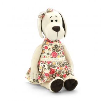 """Мягкая игрушка """"Собачка Лапуська в летнем платье"""" 20 см"""