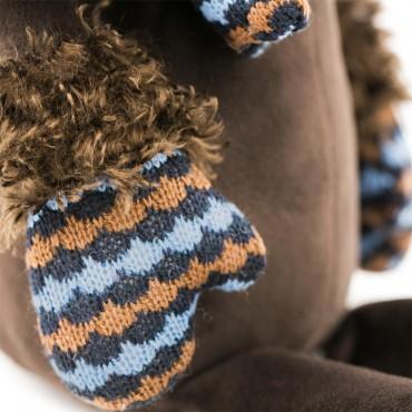 Пудель Артемон в варежках и шарфе (25 см)