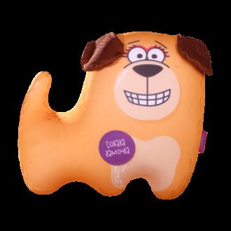 Игрушка-антистресс «Собака Дамочка на лапках» 35х30 см