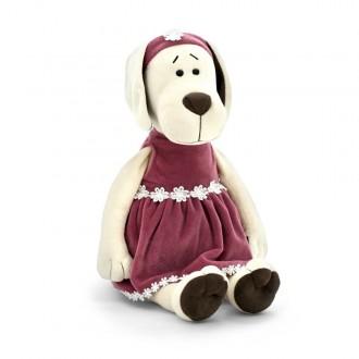 """Мягкая игрушка """"Собачка Лапуська в бархатном платье"""" 20 см"""