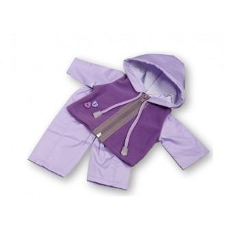 Одежда для пупса 38-43см: костюм с флисовой курткой, фиолетовый