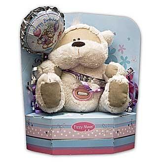Мишка с шариком Happy birthday(13 см)