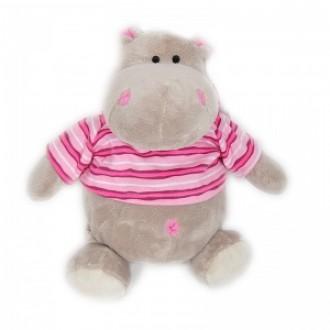 Бегемотик Жорик в розовой полосатой маечке (50 см)