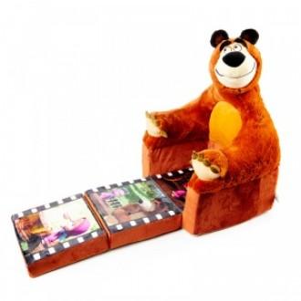 Кресло раскладное Маша и Медведь (65 см) под заказ