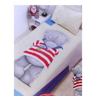 """Комплект постельного белья 1,5-спальный """"Teddy морячок"""" (под заказ)"""