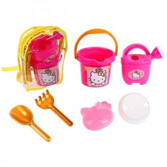 """Набор песочный Hello Kitty """"Принцесса"""",в рюкзачке (под заказ)"""