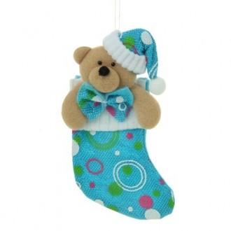 Мягкий носок для подарков 20*10 см мишка