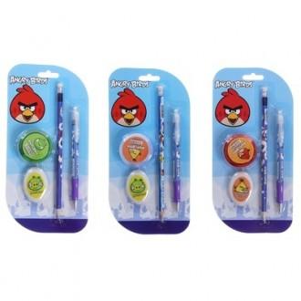 """Набор """"Angry Birds"""": ручка , карандаш, ластик, точилка"""