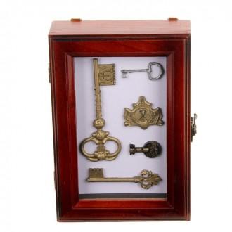 """Ключница деревянная """"Ключи от покоев"""" 17 см × 25 см (под заказ)"""