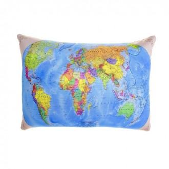 "Мягкая подушка-антистресс ""Карта мира"""