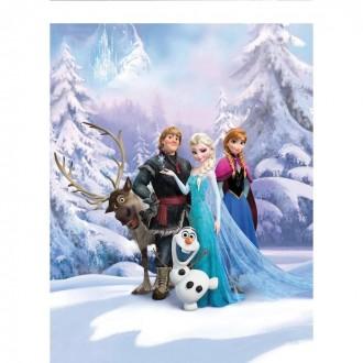 Фотообои Komar 4-498 Disney Зимняя страна Фрозен 1,84x2,54 м (состоит из 4 частей) под заказ