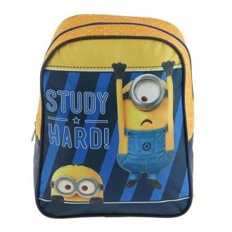 """Рюкзачок детский """"Миньоны"""" Universal Studios 282112,5 синий/желтый (под заказ)"""