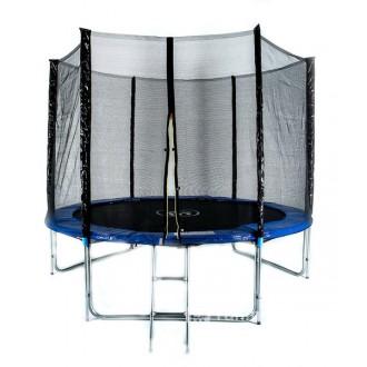 Батут Fitness Trampoline 10FT-3-Extreme с сеткой и лестницей (диаметр 3,05 м)