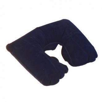 Подушка дорожная надувная, цвет синий