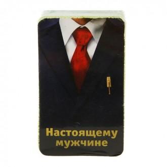 "Полотенце прессованное Collorista ""Настоящему мужчине"", 28 х 60 см"