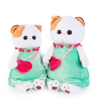 Кошечка Ли-Ли в мятном платье с розовой сумочкой (24 см)