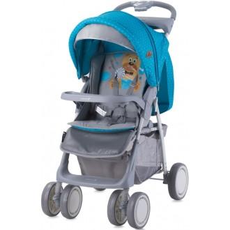 Детская коляска Foxy Blue&Grey Hello Bear с механизмом складывания книжка