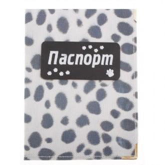 """Обложка винтажная для паспорта """"Долматин"""" с нашивкой"""