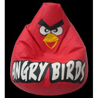 Кресло-мешок Красная Птичка, экокожа